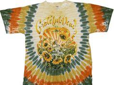 Official licensed Grateful Dead Merchandise T-shirt, sweatshirt, Jacket at Rockabilia. Shop Trendy collection of Grateful Dead T-Shirts Music & Pop Culture-Inspired Clothes & Accessories. Grateful Dead Merchandise, Grateful Dead Shirts, Woodstock, Tie Dye Shirts, Band Shirts, Sunflower Shirt, Bear Cubs, Tie Dyed, Vintage Shirts