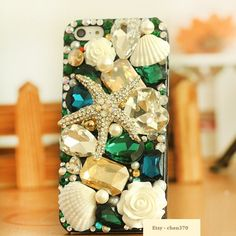 Free iPhone Case & New Summer Beach Starfish Shell  DIY Phone Case Deco Den Kit