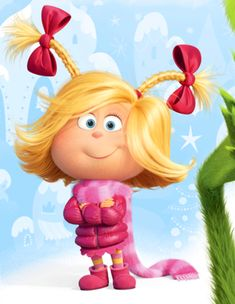Cindy Lou Who in The Grinch by Cindy Lou Who Hair, Cindy Lou Who Costume, Der Grinch Film, The Grinch Movie, Best Horror Movies, Scary Movies, Netflix Horror, Funny Movies, Cindy Lou Who Cartoon