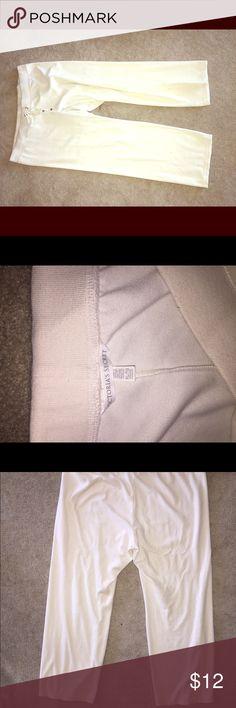 Victoria's Secret wide leg velour pants XL Like new, cream color. Victoria's Secret Pants Wide Leg