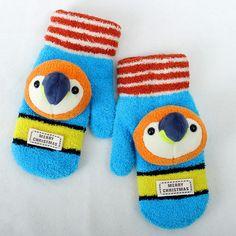 Children's Knitted Full Finger Gloves Kids Penguin Gloves, View Kids Penguin…