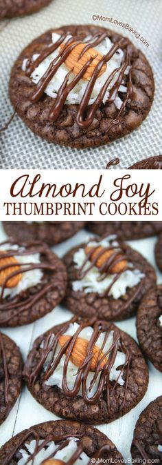 If you're a fan of Almond Joy candy bars, you'll love Almond Joy Thumbprint Cookies – an original recipe created by Mom Loves Baking.
