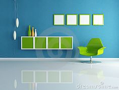 Blue and green color scheme