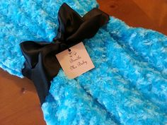 Adult and Teen Gift Turquoise Blue Minky Throw Blanket Bedding By: BundleMeBaby.Etsy.com