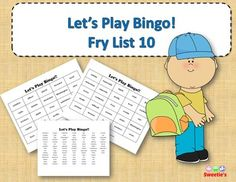 Fry List 10 - Words 901 to 1000 40 Bingo Cards with Free Space 25 playing spaces per cards Call list of the 100 words randomized Print on card stock and laminate for multiple uses Print on regular paper for one-time use