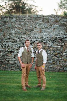 rustic groom style | onefabday.com- groomsmen
