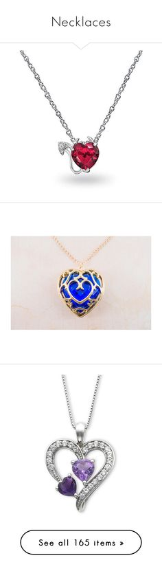 """Necklaces"" by skater840 ❤ liked on Polyvore featuring jewelry, necklaces, necklaces pendants, pendant-necklaces, red, red heart pendant necklace, heart chain necklace, heart jewelry, pendant chain necklace and red pendant necklace"