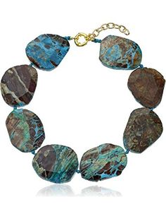 Panacea Jasper Stone Collar Necklace ❤ The Pannee Group Inc.