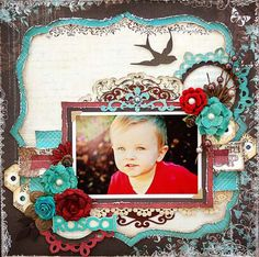 Love these colors #scrapbooking #page#layout