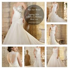 {FASHION FRIDAY} NEW SPRING 2016 JULIETTA COLLECTION BY MORI LEE | PLUS SIZE WEDDING DRESSES | Pretty Pear Bride | #plussize #weddingdresses #curvybrides