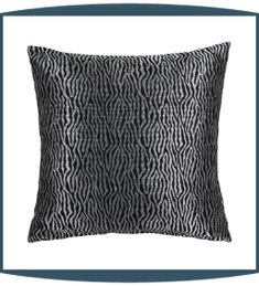 Basswood Decorative Pillows in Noir by Michael Amini