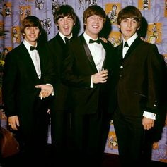 The Beatles at the premiere of 'A Hard Day's Night', London Pavilion, 6 Jul. 1964.