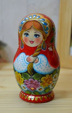 A simple, lovely style of matryoshka.