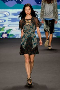Anna Sui Spring 2014 Runway Show | NY Fashion Week | POPSUGAR Fashion