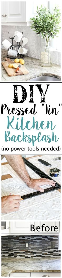 DIY Pressed Tin Kitc