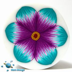 Purple and turquoise flower cane | Flickr - Photo Sharing!