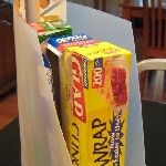 Use scrapbook paper organizers in the kitchen