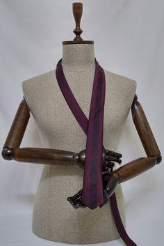 Necktie - Black Men's Tie - Black Cravat SL123 #handmadeatamazon #nazodesign