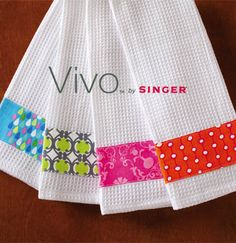 #crafts_nthings Craft of the Day, Embellished Towels using new VIVO by Singer Create & Repair Machine
