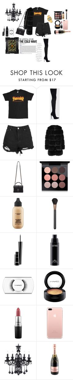 """""""Untitled #66"""" by tonibaneva ❤ liked on Polyvore featuring Boohoo, Givenchy, Yves Saint Laurent, MAC Cosmetics, MoÃ«t & Chandon, Casio and A BATHING APE"""