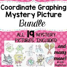 This is a bundle of all 19 current Coordinate Graphing Mystery Pictures that are currently in my store. You are receiving over a 25% savings from purchasing this bundled product! **Please see the list below for exact pictures included!**Please check out the Preview for more information!The following Coordinate Graphing Pictures are included:--Olaf Snowman Coordinate Graphing Ordered Pairs Mystery Picture--Christmas Elf Coordinate Graphing Ordered Pairs Mystery Picture--Christmas Grinch…
