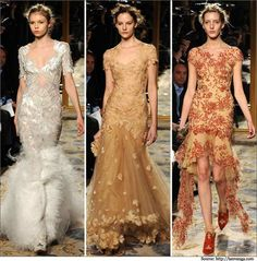 New York Fashion Week Runway Show Evening gowns.  #gowns #eveninggowns