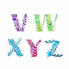 Now that is done from A to Z, here you have all the floral letters ♥️♥️♥️ (Swipe for the previous posts). Cute Fonts Alphabet, Calligraphy Fonts Alphabet, Calligraphy Drawing, Hand Lettering Alphabet, Doodle Lettering, Creative Lettering, Lettering Styles, Typography Letters, Penmanship