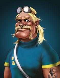 Eric Gustaffson, Stockholm, (SWE), Nickname: Anvil, Rider type: Sprinter