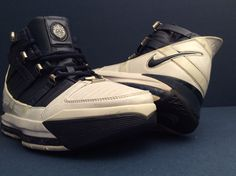 a4b9a4f1c4bc Nike air lebron iii 3 white navy blue silver wolf gray  3121147-141  size  10.5