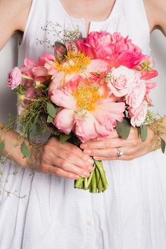 If you're all about the details, then your bridal manicure will factor into that. Your nails needs to perfectly complement your rings, skin tone, and, of course, the wedding bouquet! Like this Just Peachy color.