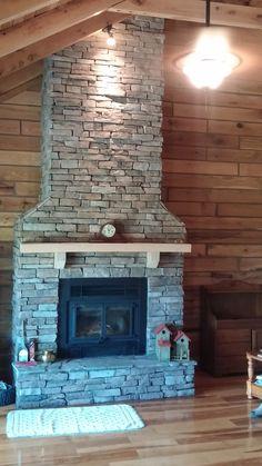 Fireplace Timber View- Schutt Log Homes