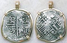 Atocha coin jewelry...coins discovered from shipwreck