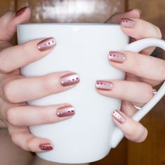 Jennifer Dye on Twitter: mani inspo? Try an easy ombré dotticure in shades of pink and rose gold. Base is @essie Buy Me a Cameo