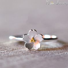 Fashion Cherry blossoms flower rings for women anillos, cute opening finger ring 925 sterling silver jewelry joias anel feminino Womens Jewelry Rings, Cute Jewelry, Jewelry Gifts, Women Jewelry, Cheap Jewelry, Jewelry Box, Silver Jewelry, Jewelry Armoire, Bridal Jewelry