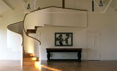 the beautiful curvy staircase at Crear designed by brilliant Barnaby Gunning and made by the talented Brian Jones Coastal Wedding Venues, Wedding Venues Uk, Affordable Wedding Packages, Space Wedding, Indoor Wedding, Romantic Weddings, Wedding Inspiration, Wedding Ideas, Lorraine