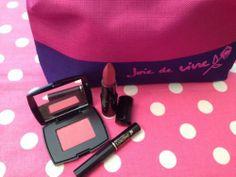 New Lancome 4 Peice Gift Set 2014 Joie de Vine Lipstick Blush Mascara Pink Bag   eBay