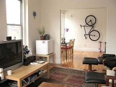 indoor bike storage ideas with bike storage rack and dining room design