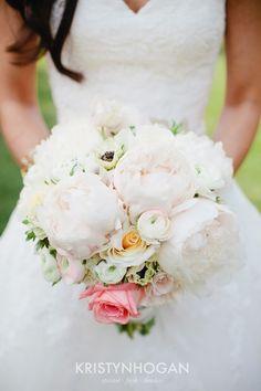 Blush Peony bouquet by Cedarwood Weddings. Photo by Kristyn Hogan. #cedarwoodweddings