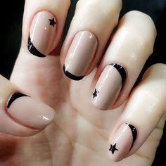 Cool Star Nail Art Designs With Lots of Tutorials and Ideas Star Nail Art, Star Nails, New Nail Art, Cute Nail Art, Cute Nails, Korean Nail Art, Korean Nails, Star Nail Designs, Simple Nail Designs