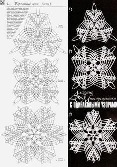 Crocheted motif no. Free Crochet Doily Patterns, Crochet Pillow Pattern, Crochet Motifs, Crochet Diagram, Crochet Art, Crochet Designs, Thread Crochet, Crochet Flowers, Crochet Stitches