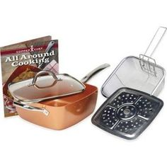As Seen On Tv Copper Chef 5-Piece Deep 9.5-Inch Square Pan Set 5 Piece