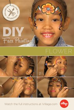 Flower Power! How to Do Rainbow Flower Face Paint for Kids http://www.ivillage.com/flower-face-paint-kids/6-a-549093