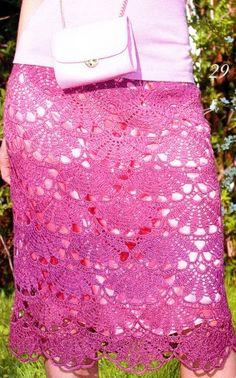 Calado crochet falda