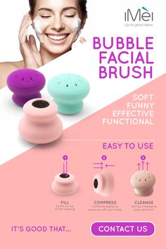 How to use our Bubble Facial Brush? Functional, Effective, Funny, Easy to use! Contact us for more info: info@imei.it  #iMei #UpToGoodIdeas