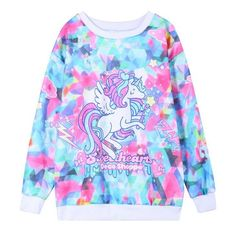 Wholesale magic Dazzle Colour Printing Flying Horse Hot Wind Design Cotton Hoodies Women O Neck Fleece Warm Casual Sweatshirts Wy0429 By Jinmei03 Under $35.26 | Dhgate.Com