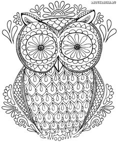 Free Coloring Pages Mandala Owl Nature Page Easy