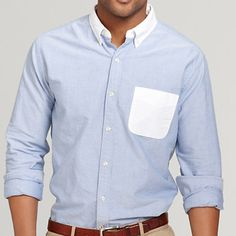 10 Contrast Collar Button-Up Shirts for Fall - Contrast-Collar Shirts - Esquire