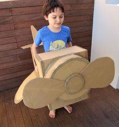 Awesome DIY Cardboard Box Plane   Kidsomania