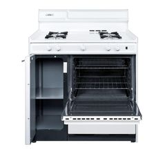 Summit Appliance 36 in. 2.9 cu. ft. Gas Range in White-WNM4307 - The Home Depot