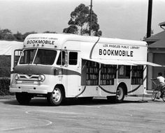 los angeles public library bookmobile, 1955